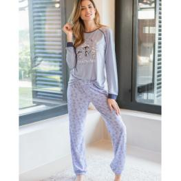 Massana Pijama Mujer P/l M/l P691220 Lavanda T.M