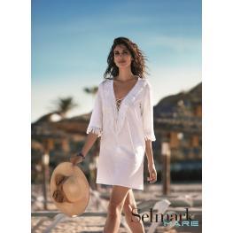 Selmark Camisola B0023 Cotton Blanco T.L/3