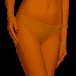 Calvin Klein  Tanga Sin Costuras Qf4982E-001 Piel T.L