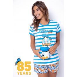 Disney Pijama Verano Mujer P/c M/c Pato Donald 54328-0 Azul T.L/g