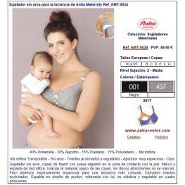 Anita Sujetador Maternal 5034 C/foam S/a Negro/puntos T.90F