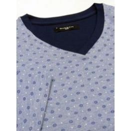Guasch Pijama Hombre  M/c  Algodón  Azul T.4Xl