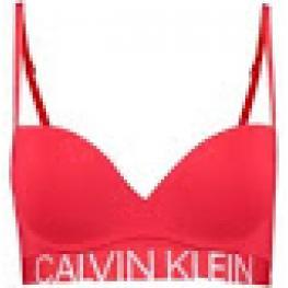 Calvin Klein  Sujetador +  Tanga. S/costuras Push Up  Qf5182E-Dfu Rojo T.90/b