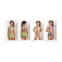 Anai Bikini Niña  Mod. Flor  C.Marino/flores T.6
