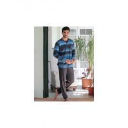 Massana 181345 Pijama Hombre M/l  P/l C/redondo Abierto Azul Denim T.Xl