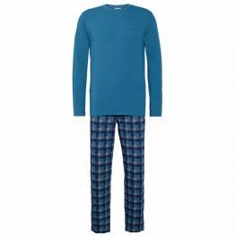 Calvin Klein Pijama Hombre P/l M/l 000Nm1600E-Dpv Azul/cuadros T.Xl