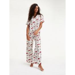 Tommy Hilfiger Pijama Mujer P/l M/c Abierto Uw0Uw01931 Print C.Cava/estamp. T.Xs