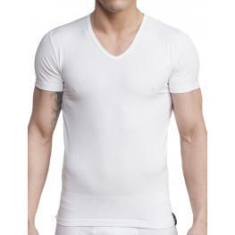 Impetus Hombre Camiseta M/corta Cuello Pico Blanca T.M