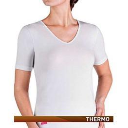 Thermo Impetus Mujer Camist. M/corta Cuello Pico T.S Negra