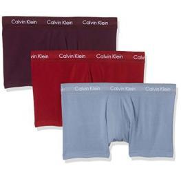 Calvin Klein-Novedad- Pack de 3 Boxer U2664G-Ylr Gris/berenjena/burdeos Algodon T.L