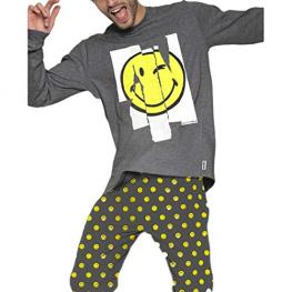 Smiley World Pijama Niño P/l M/l 50848-0 Marengo Jaspe T.16