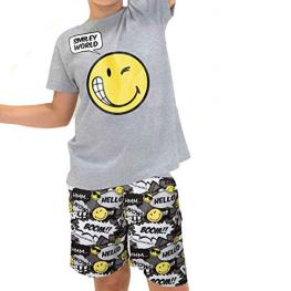 Smiley World Pijama Chico M/c 50339 Gris T,16