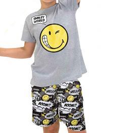 Smiley World Pijama Niño M/c 50339 Gris T,12