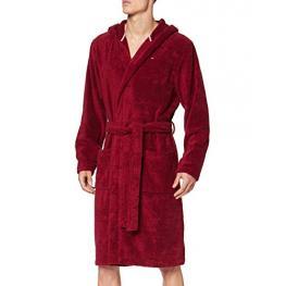 Tommy Hilfiger Albornoz Hombre Towelling Robe Umoum01606629 Granate T.Xl