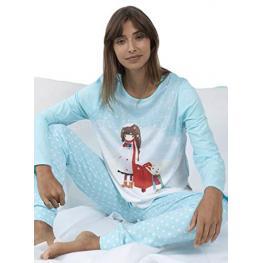 Santoro Pijama Mujer Invierno Kori Kumi (Caja Metalica) 54415-0 Azul/buzon T.S/p