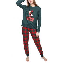 Disney Pijama Mujer P/l M/l Minnie Mouse 54310-0 Verde/cuadros  T.Xl/sg