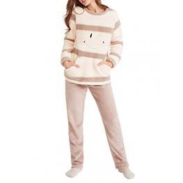 Promise Pijama Mujer P/l M/l Peludo N08692 Toffe T.48/xl