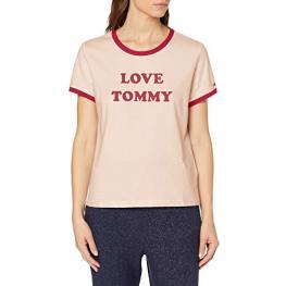 Tommy Hilfiger Cta Ss Tee Slogan M/c Uw01905 612 Rosa T.L/g