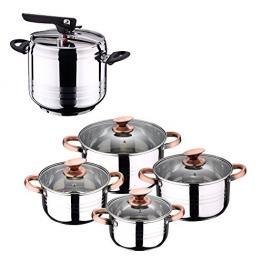 Set de Olla A Presión 7L Sip Duna + Batería Cocina 8 Piezas Sip