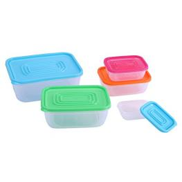 Set 5 Tupperware Rectangulares de Plastico