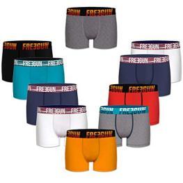 Set 10 Boxers Básicos Freegun, Multicolor