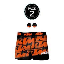 Set de 2 Boxer Infantil Ktm - Microfibra - Multicolor Logo Naranja