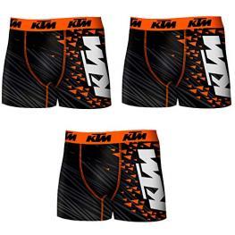 Set 3 Boxer Ktm Color Negro Con Diseño