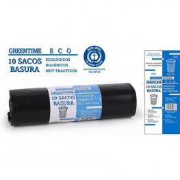 10 Sacos Basura 80X105-G150-100 L. Greentime Eco