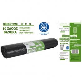 10 Sacos Basura 85X105-G110-100 L. Greentime Eco