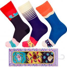 3Pares Calcetines de Vestir En Caja - Algodón Bio- Crazy Socks - Divertidos y Originales