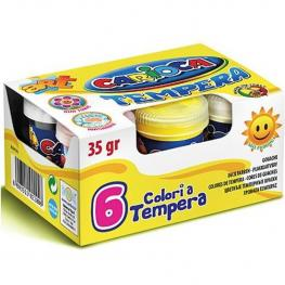 Set 6 Temperas Bote 35Gr.