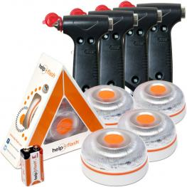 4X Help Flash V.2 2021- Luz de Emergencia Autónoma + 4 Martillos - Naranja