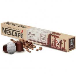 Africas Ristretto Nescafé  10 Cápsulas Nespresso Aluminio Intensidad 10