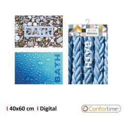 Alfombra 40X60Cm Baño Digital Confortime - 3 Diseños Surtidos
