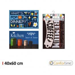 Alfombra 40X60Cm Kitchen Print Confortime - 3 Diseños Surtidos