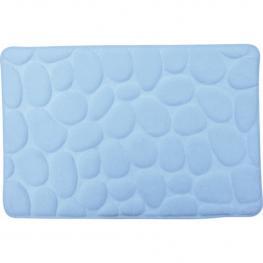 Alfombra de Bano de Espuma Piedras Azul Claro 40X60 Cm