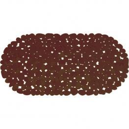 Alfombra de Baño Pvc Piedras 68X35Cm Chocolat