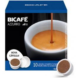 Azzurro, Espresso Extra Intenso Bicafé, 10 Cápsulas Compatible Delta Q