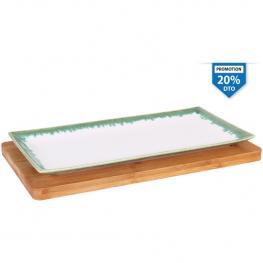 Bandeja Bambu Ming II 32X17X1.5Cm