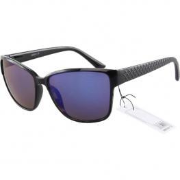 Levaró - Gafas de Sol Negro y Lente Azul Espejo