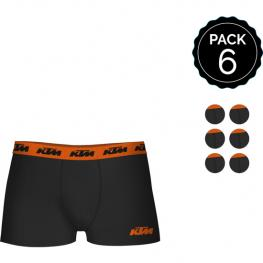 Set de 6 Boxers Ktm Adulto - Color Negro