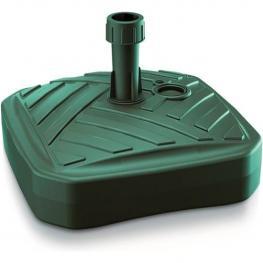 Base de Sombrilla de Polietileno Cuadrada Con Diseño A Rayas 39 X 39 X 13 Cm En Color Verde