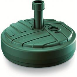 Base de Sombrilla de Polietileno Redonda Con Diseño A Rayas 39 X 39 X 13 Cm En Color Verde
