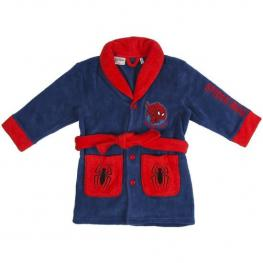 Batín Coral Fleece Spiderman - Azul - Talla 4 Años