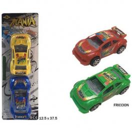 Blister 2 Coches Racing Friccion