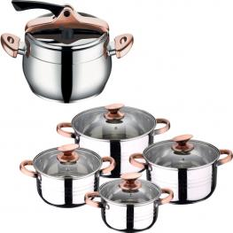 Set Bateria 8Pc Sip + Olla Express Inf.Chefs 6L