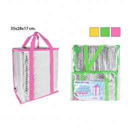Bolsa Nevera Aluminio 35X28X17Cm - Colores Surtidos