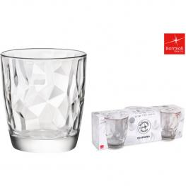 Set 3 Vasos Vidrio 39Cl Diamond Dof