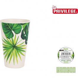 Vaso Privilege Bambú Blanco Verde