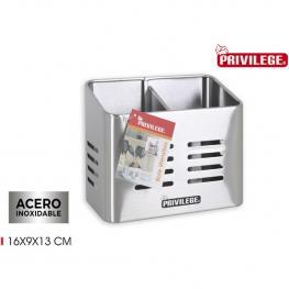 Bote Utensilios Inox 16X9X13Cm Privilege